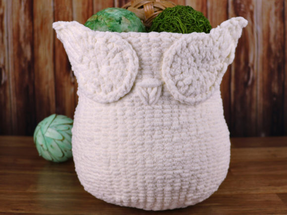 Knit Owl Basket Pattern Graphic Knitting Patterns By Knit and Crochet Ever After - Image 1
