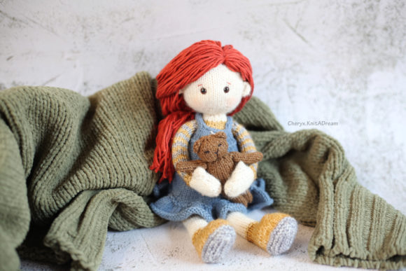 Knitting Pattern - the Candy Doll, Jane Graphic Knitting Patterns By Cheryx