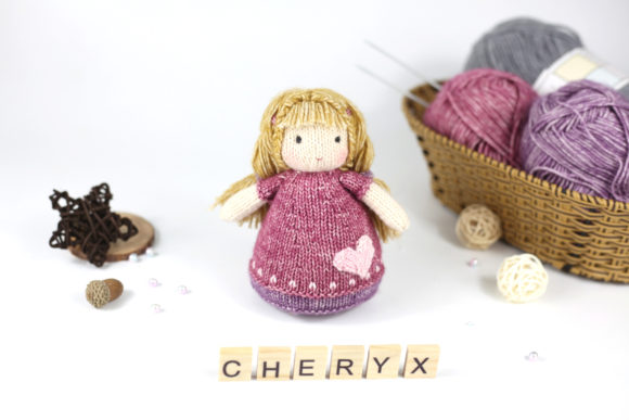 Knitting Pattern - the Little Doll, Lucy Graphic Knitting Patterns By Cheryx