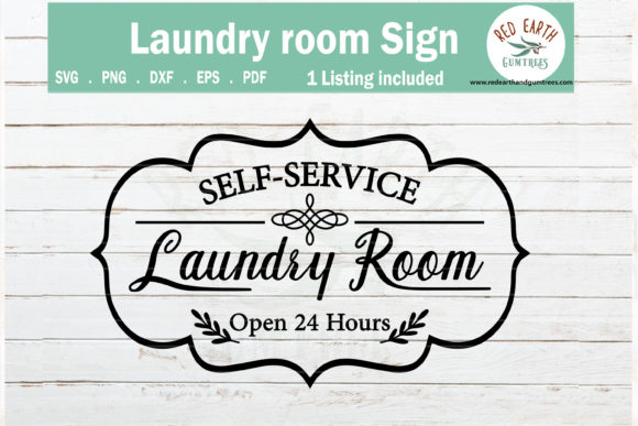 Laundry Room Sign Wall Decal Graphic Crafts By redearth and gumtrees - Image 1