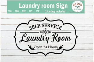 Laundry Room Sign Wall Decal   Graphic Crafts By redearth and gumtrees