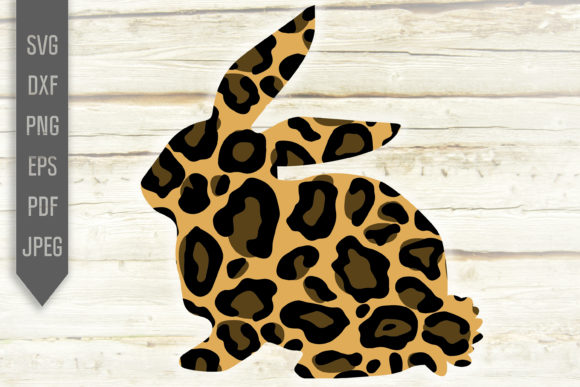 Download Free Leopard Print Easter Bunny Graphic By Svglaboratory Creative for Cricut Explore, Silhouette and other cutting machines.