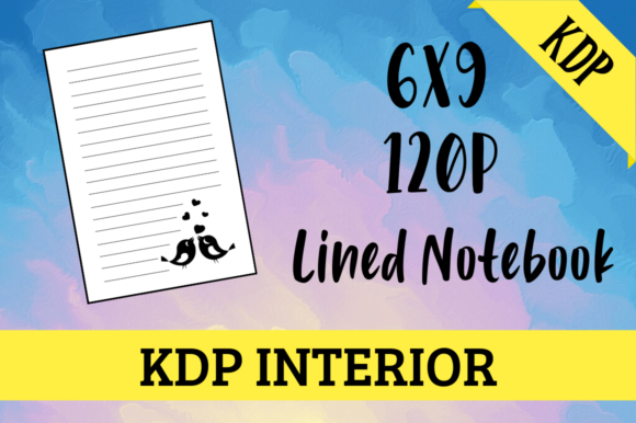 Print on Demand: Lined Notebook with Birds | KDP Interior Graphic KDP Interiors By Hungry Puppy Studio