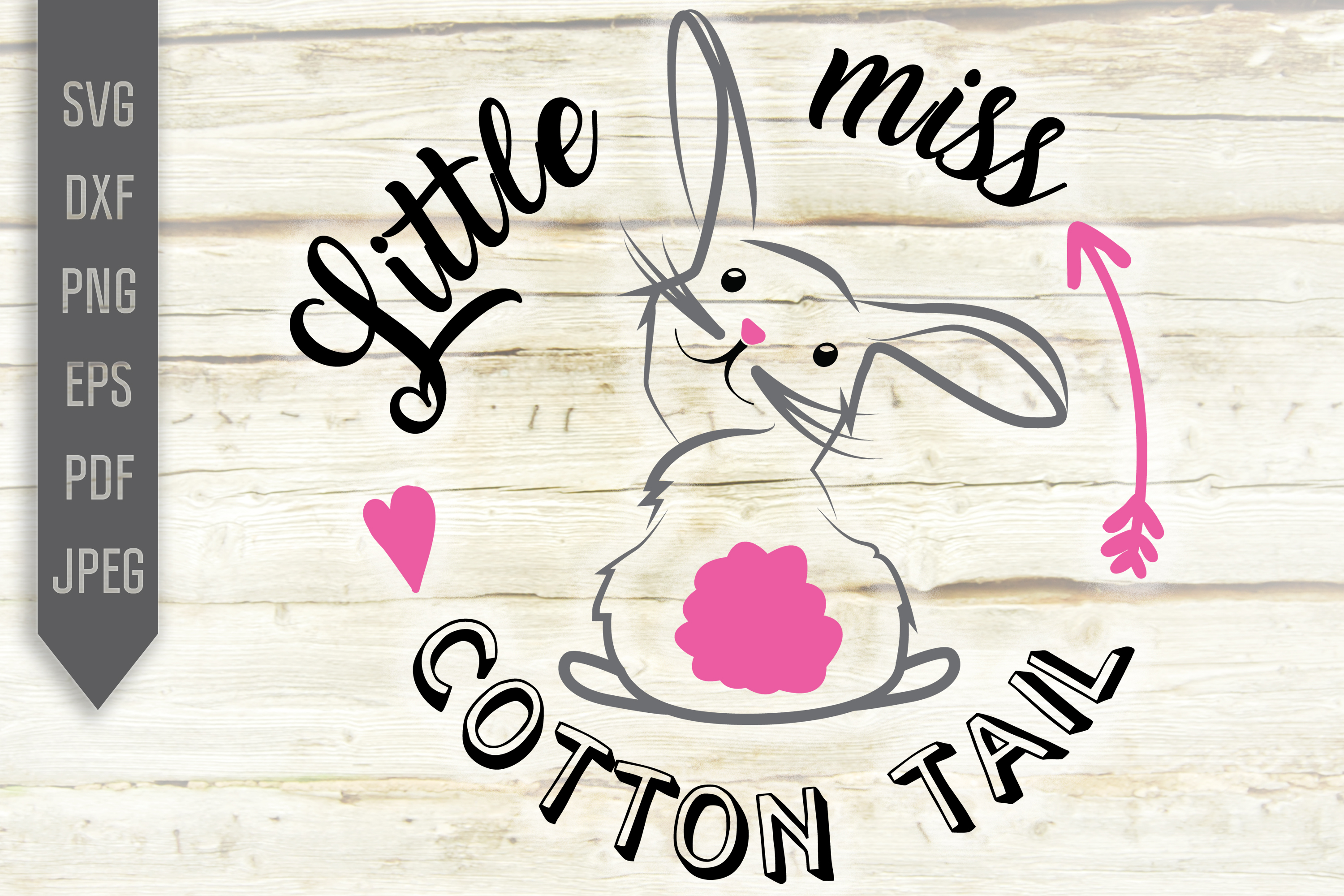 Little Miss Cotton Tail Girl Easter Graphic By Svglaboratory
