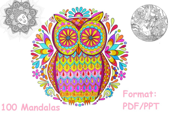 Print on Demand: Mandala Coloring Book 100 Pages Graphic Coloring Pages & Books Adults By Papeterie Bleu