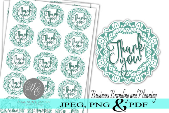Download Free Mandala Thank You Print And Cut Sticker Graphic By Shannon for Cricut Explore, Silhouette and other cutting machines.