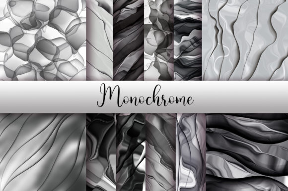 Monochrome Abstract Background Graphic Backgrounds By PinkPearly - Image 1
