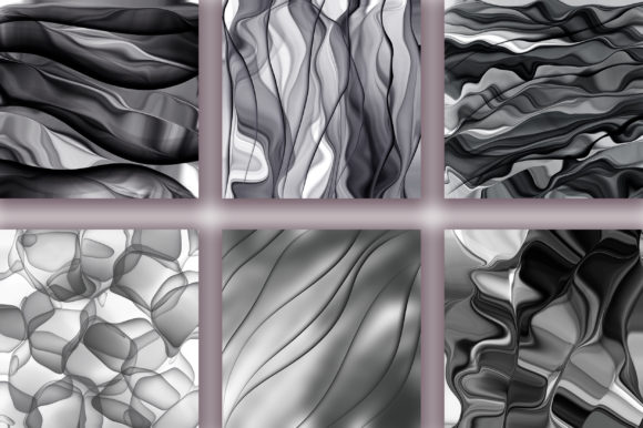 Monochrome Abstract Background Graphic Backgrounds By PinkPearly - Image 3