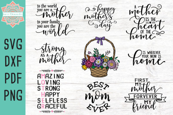 Print on Demand: Mother's Day Bundle Graphic Crafts By savvydesignsstl - Image 1