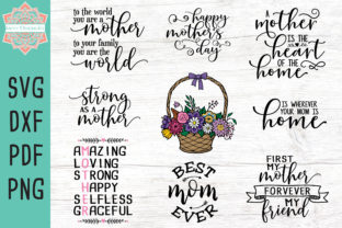 Download Free Mother S Day Bundle Graphic By Savvydesignsstl Creative Fabrica for Cricut Explore, Silhouette and other cutting machines.