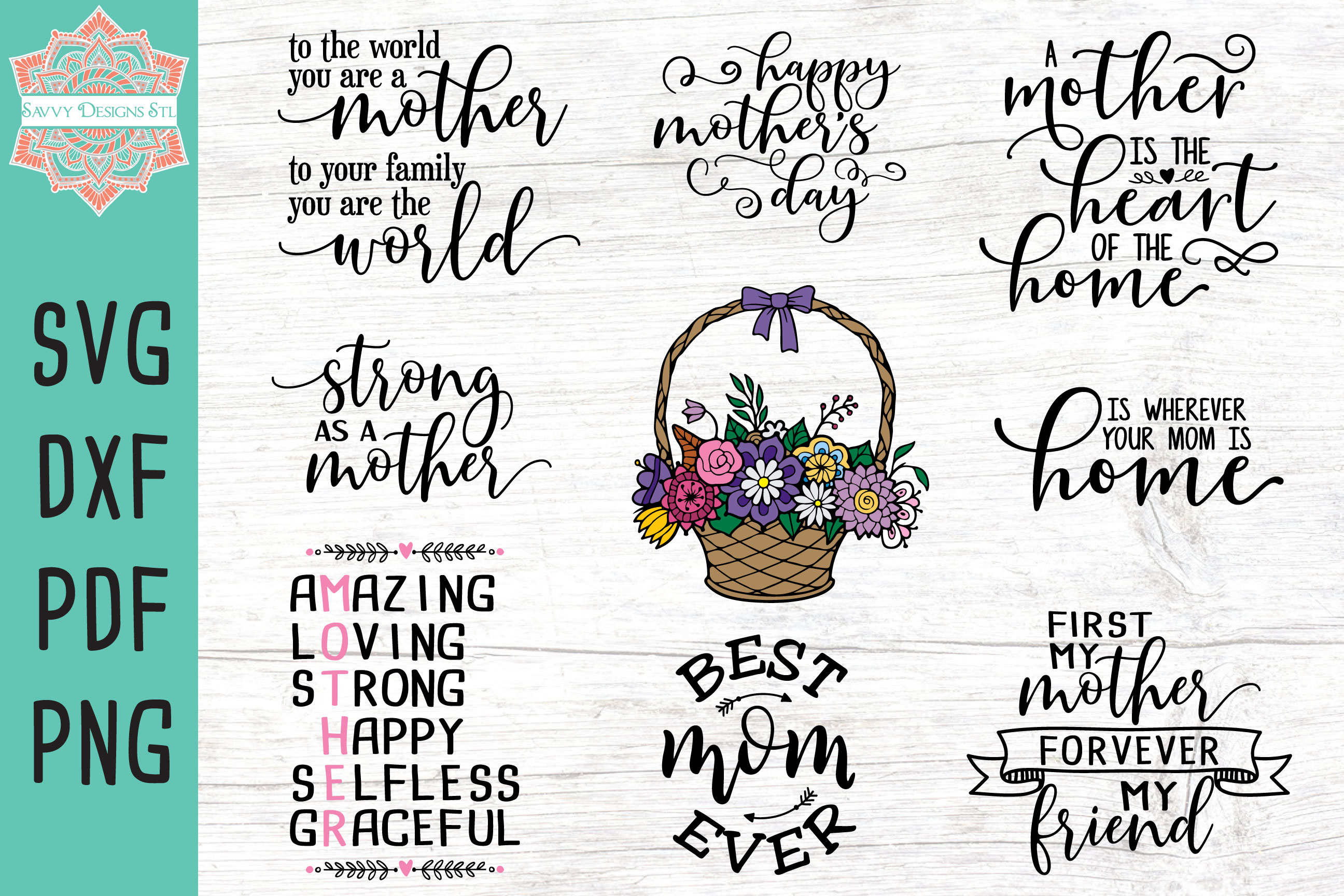 Download Free Mother S Day Bundle Grafico Por Savvydesignsstl Creative Fabrica for Cricut Explore, Silhouette and other cutting machines.