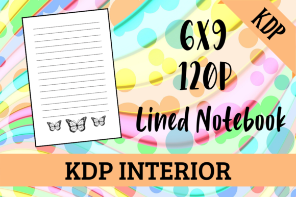 Print on Demand: Notebook with Butterflies | KDP Interior Graphic KDP Interiors By KDP Mastermind