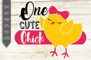 Download Free One Cute Chick Easter Layered Graphic By Svglaboratory for Cricut Explore, Silhouette and other cutting machines.