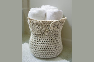 Owl Basket Crochet Pattern Graphic Crochet Patterns By Knit and Crochet Ever After 1