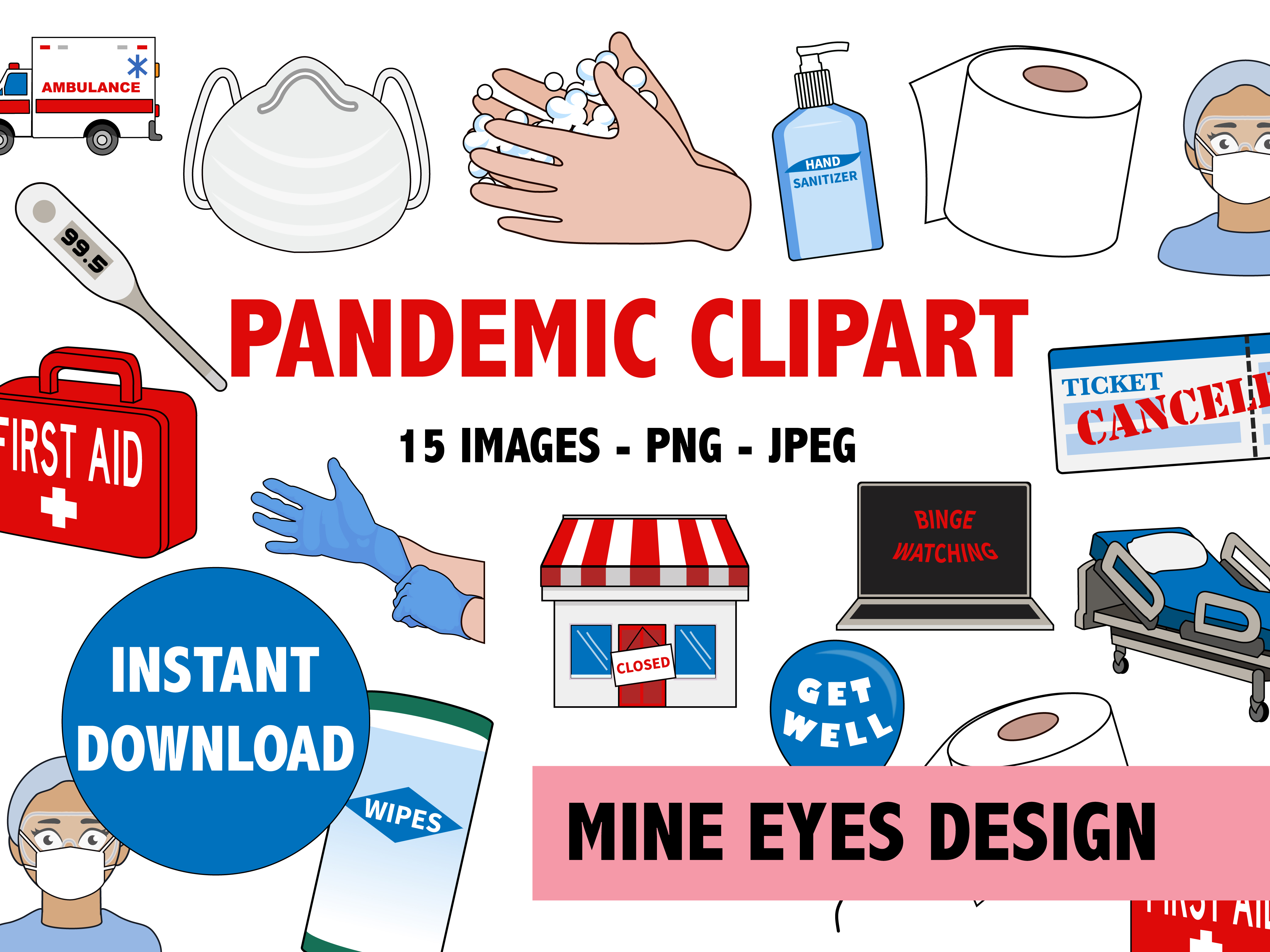 Pandemic Clipart Graphic By Mine Eyes Design Creative Fabrica