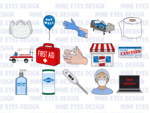 Download Free Pandemic Clipart Graphic By Mine Eyes Design Creative Fabrica for Cricut Explore, Silhouette and other cutting machines.