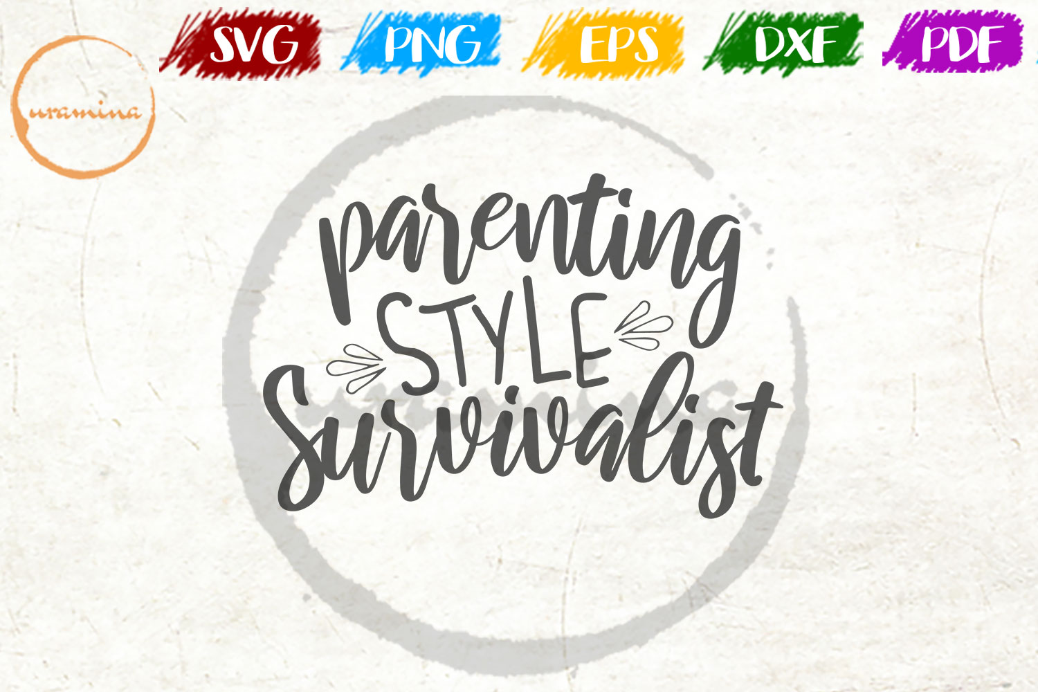 Download Free Parenting Style Survivalist Graphic By Uramina Creative Fabrica for Cricut Explore, Silhouette and other cutting machines.