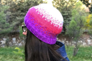 Pixel Beanie Knit Pattern Graphic Knitting Patterns By Knit and Crochet Ever After