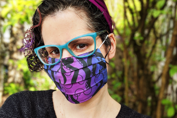 Pleated Face Mask Sewing Pattern Graphic Image