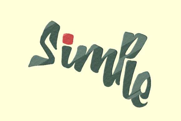 Simple Graffiti Lettering Sports Embroidery Design By Daffasyarif