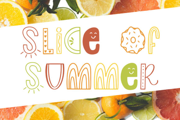 Print on Demand: Slice of Summer Decorative Font By jordynalisondesigns