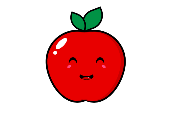 Download Free Smiley Apple Clip Art Graphic By Masyafi Creative Studio for Cricut Explore, Silhouette and other cutting machines.