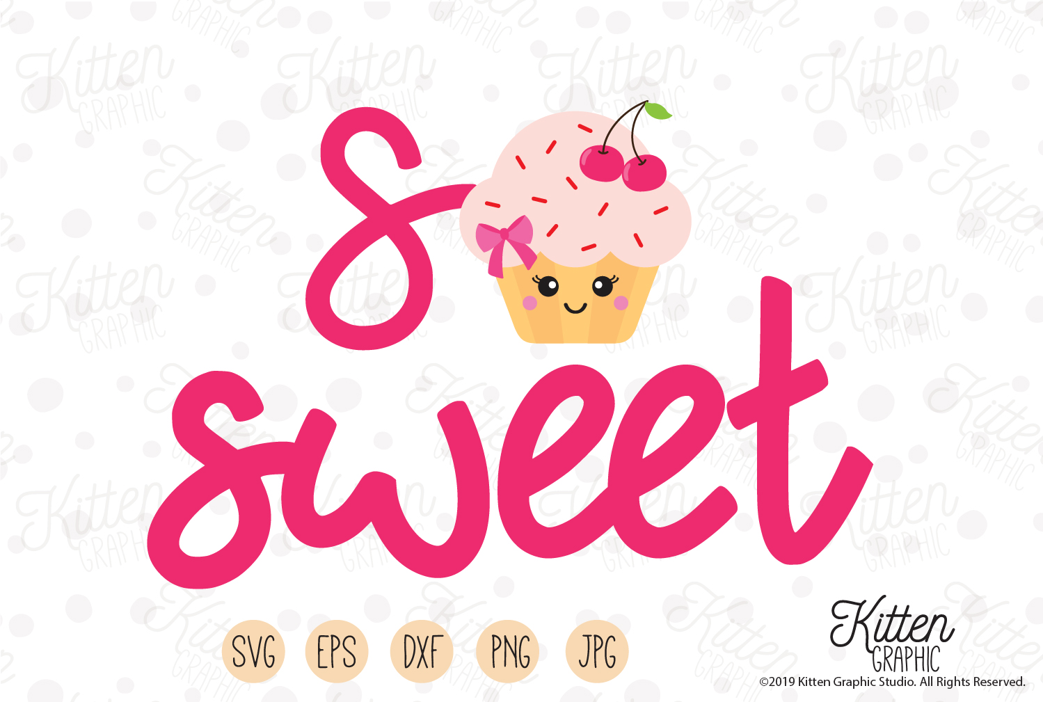 Download Free So Sweet Graphic By Kittengraphicstudio Creative Fabrica for Cricut Explore, Silhouette and other cutting machines.