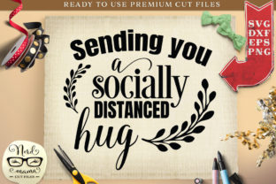 Download Free Socially Distanced Hug Cut File Graphic By Nerd Mama Cut Files for Cricut Explore, Silhouette and other cutting machines.