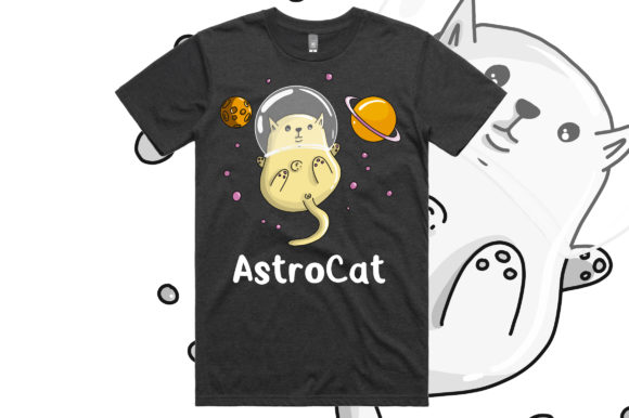 Print on Demand: Space Cat Graphics Graphic Crafts By stanosh