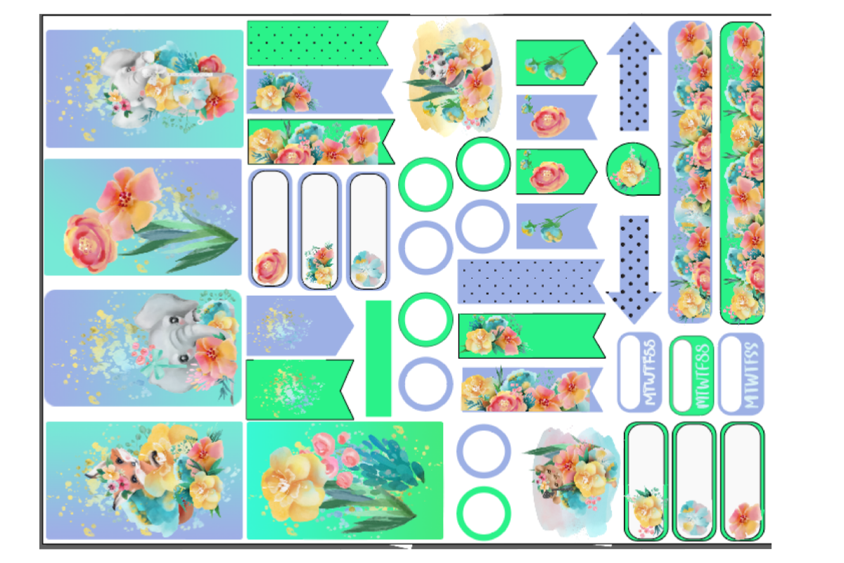 Download Free Splatter Planner Stickers 1 Graphic By Jl Designs Creative Fabrica for Cricut Explore, Silhouette and other cutting machines.
