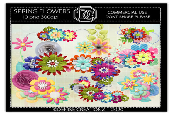 Spring Flowers Graphic Crafts By Denise Creationz