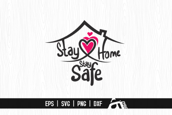 Download Free Stay Home Stay Safe Hand Lettered Graphic By Aam360 Creative for Cricut Explore, Silhouette and other cutting machines.
