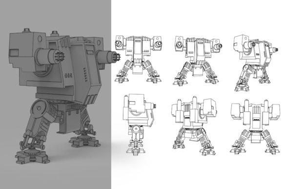 Print on Demand: Te Bot Graphic Illustrations By Gblack Id