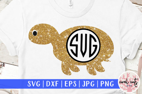 Download Free Tortoise Monogram Svg Cut File Graphic By Coralcutssvg for Cricut Explore, Silhouette and other cutting machines.
