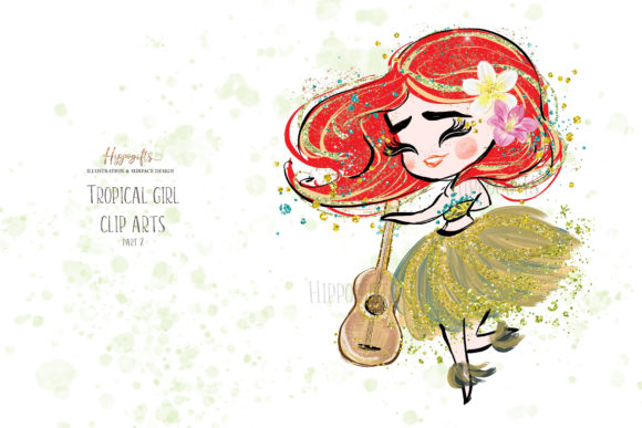 Tropical Girl Clipart,Islander Clipart Graphic Illustrations By Hippogifts - Image 2