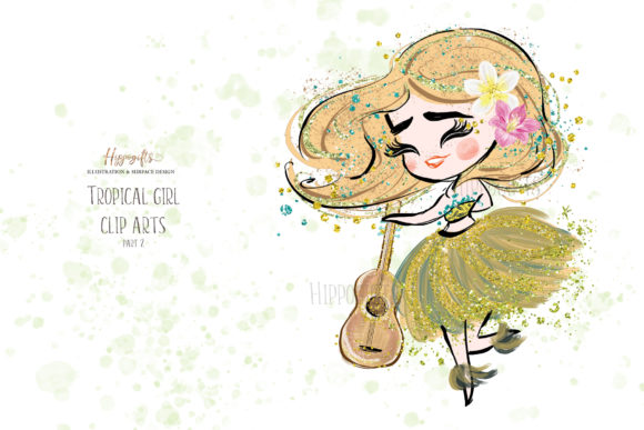 Tropical Girl Clipart,Islander Clipart Graphic Illustrations By Hippogifts - Image 3