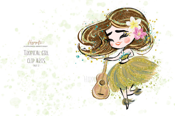 Tropical Girl Clipart,Islander Clipart Graphic Illustrations By Hippogifts - Image 5