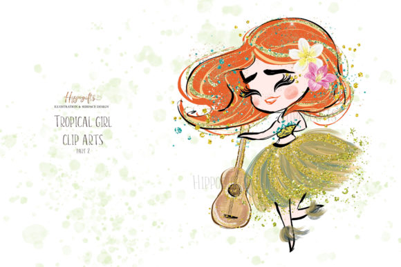 Tropical Girl Clipart,Islander Clipart Graphic Illustrations By Hippogifts - Image 6