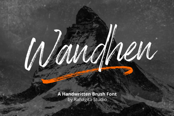 Download Free Wandhen Font By Rahagita Studio Creative Fabrica for Cricut Explore, Silhouette and other cutting machines.