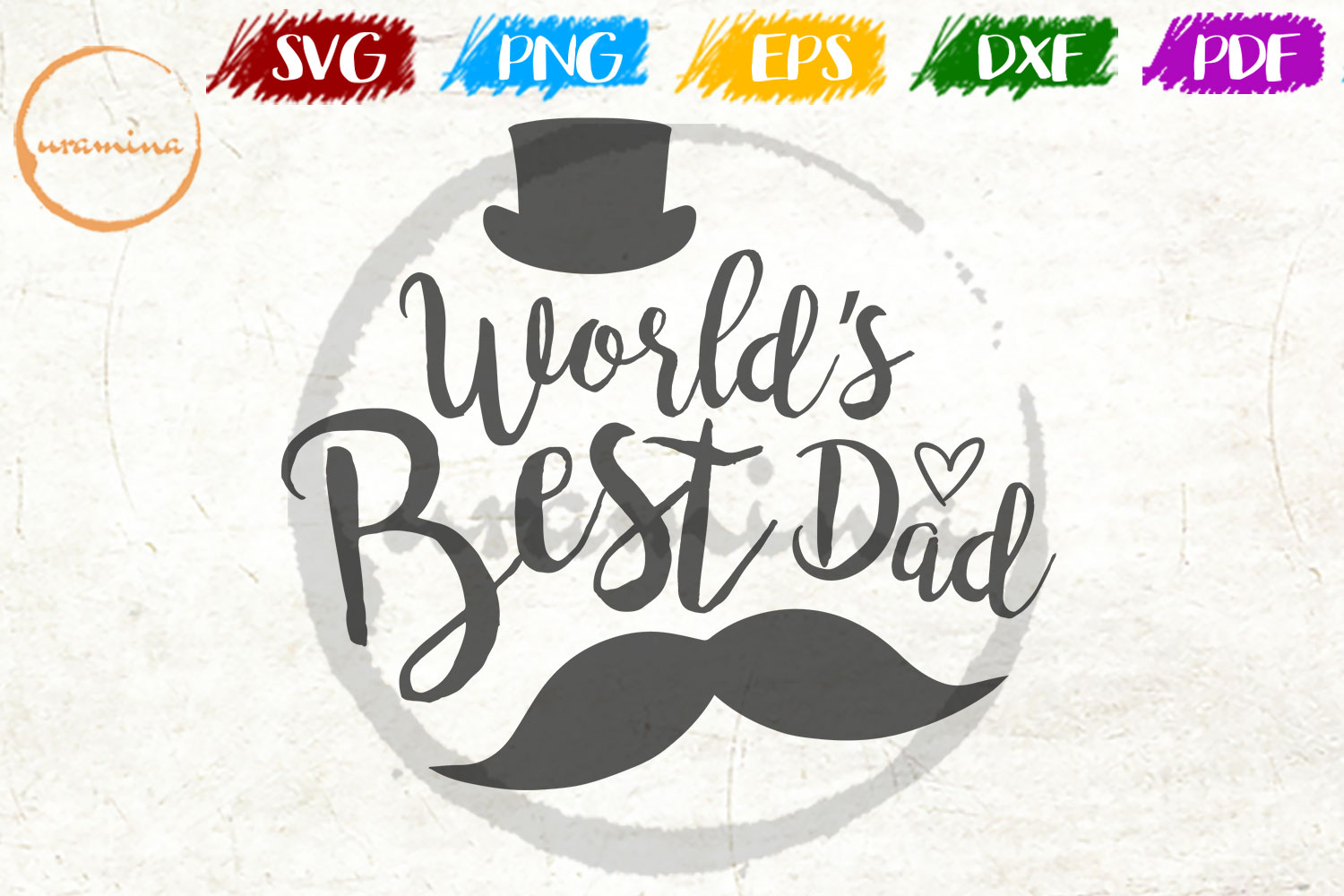Download Free World S Best Dad Graphic By Uramina Creative Fabrica for Cricut Explore, Silhouette and other cutting machines.