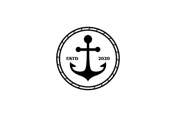 Download Free Anchor Logo Vector Graphic By Artpray Creative Fabrica for Cricut Explore, Silhouette and other cutting machines.