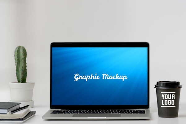 Download Free Notebook Mockup With Cactus And Coffe Grafico Por Knou for Cricut Explore, Silhouette and other cutting machines.