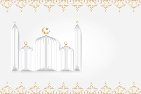 Download Free Ramadan Background With Pattern Element Graphic By Olis394 for Cricut Explore, Silhouette and other cutting machines.