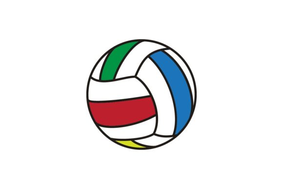 Download Free Volleyball Icon Logo Vector Graphic By Artpray Creative Fabrica for Cricut Explore, Silhouette and other cutting machines.