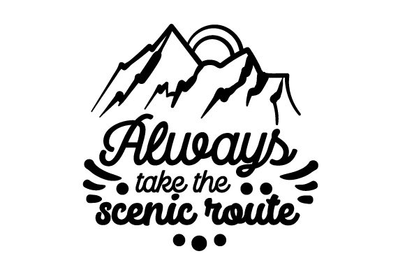 Always Take the Scenic Route Travel Craft Cut File By Creative Fabrica Crafts - Image 2