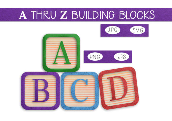 Print on Demand: A Thru Z Baby Building Blocks Graphic Illustrations By CapeAirForce