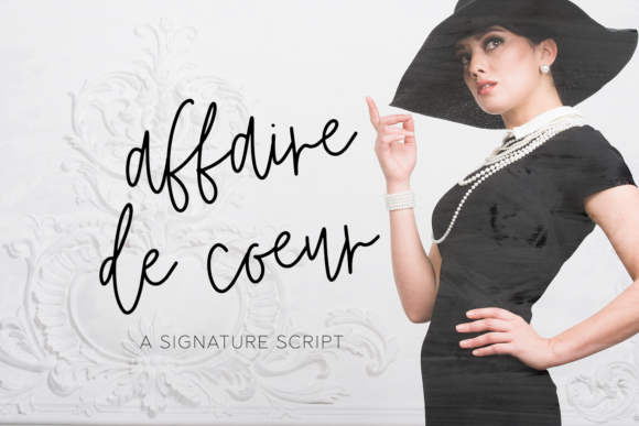Print on Demand: Affaire De Coeur Script & Handwritten Font By BeckMcCormick