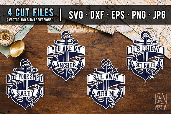 Download Free Anchors And Funny Nautical Quotes Graphic By Artwise Graphics SVG Cut Files