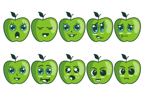 Apple Fruits Cartoon Graphic Illustrations By edywiyonopp