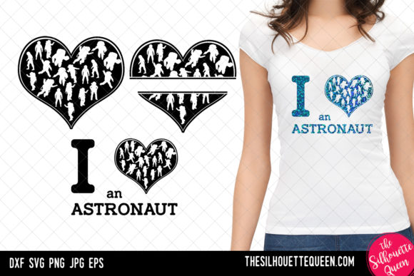 Download Free Astronaut Heart Valentines Day Graphic By for Cricut Explore, Silhouette and other cutting machines.